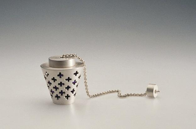 sita falkena asmat - doosje voor knoopsgat zilver parel zijde dierbare herinneringen