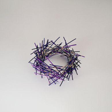sita falkena armsieraad nest aluminium paars -r.v.s. staaf recht