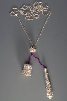 sita falkena een handvol-koraal-2 elementen collier