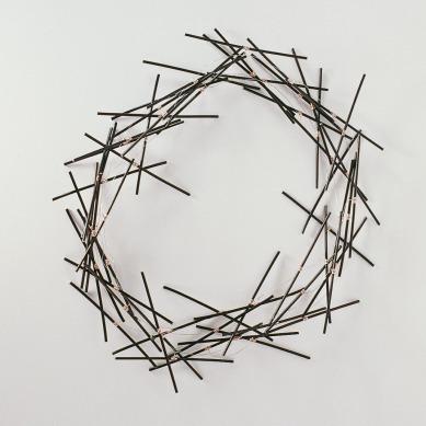 halssieraad nest aluminium -r.v.s. zwart recht multiple