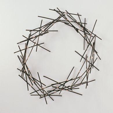 sita falkena halssieraad nest aluminium -r.v.s. zwart recht multiple
