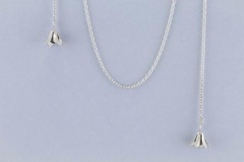 sita falkena schakelketting zilver met tulpen en parels aan uiteinde