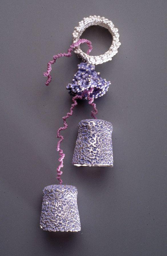 sita falkena ring koraal met 3 elementen lila draad
