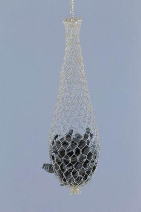 sita falkena zilveren net met vissen aan ketting