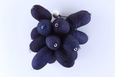 sita falkena broche troste 14 vlinderkokons indigo blauw